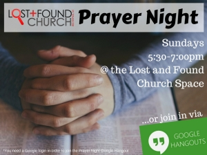 Prayer Night - Google Hangout