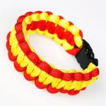 red-yellow-paracord-bracelet
